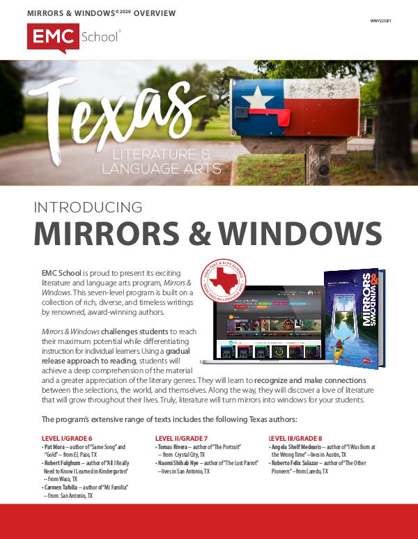 TEXAS ELA MIRRORS & WINDOWS OVERVIEW