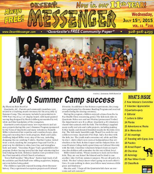 Desert Messenger July 15, 2015 Jul. 2015