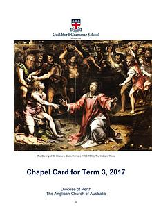 Chapel Card Term 3. 2017