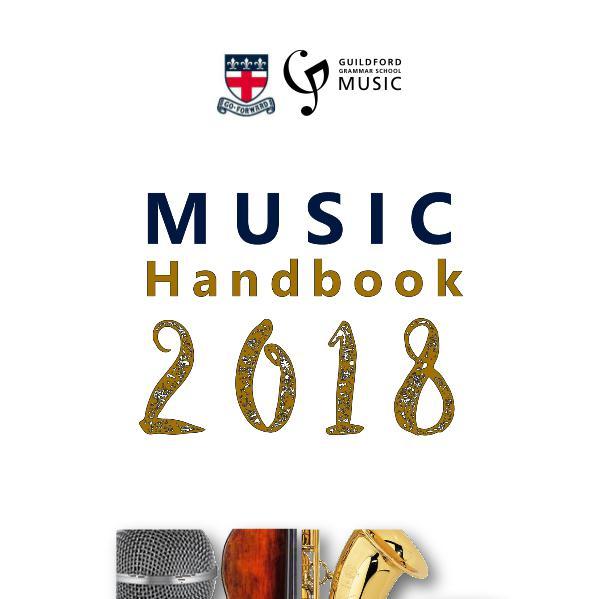 Music Handbook 2018 Guildford Grammar School  Music Handbook 2018