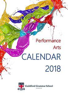 Performance Arts Calendar 2018