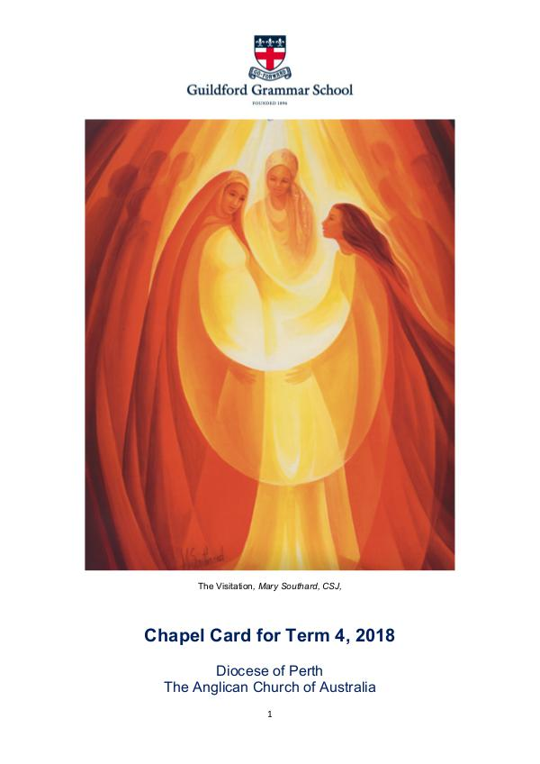 Chapel Card Term 4, 2018 Chapel Card Term 4 2018