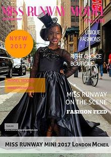 Miss Runway Model Magazine October 2017