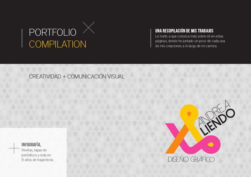 Portfolio Compilation - Andrea Liendo - Diseño gráfico 2015