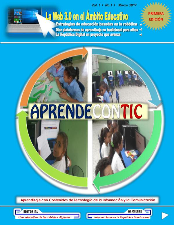 AprendeConTIC Edición 1 Volumen 1 estamos sirviendo a la educ.