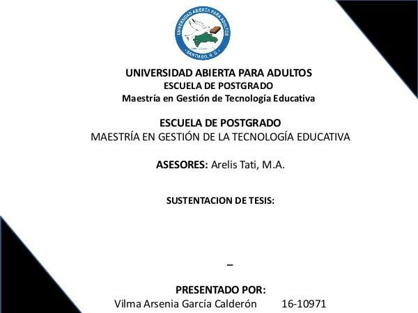 Presentación Final Tesis: Estrategias de Aprendizaje con App de Mat Tesis de Matemática con Estrategias de Ap Vilma G.
