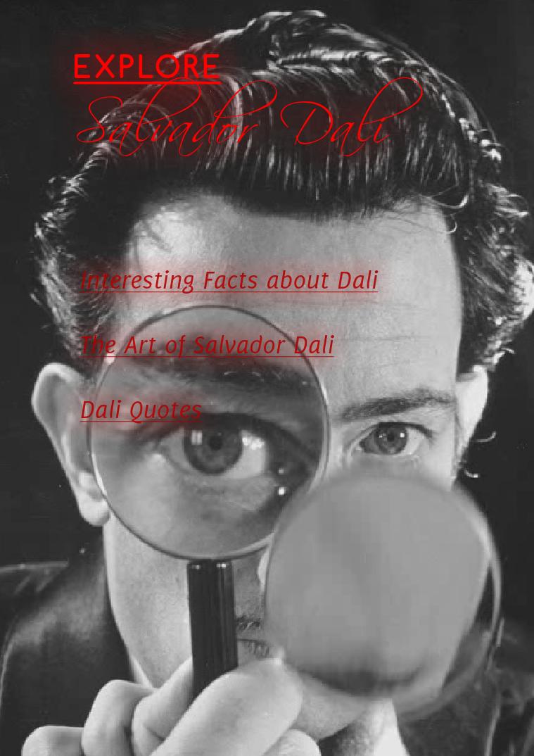 Salvador Dali Explore Dali