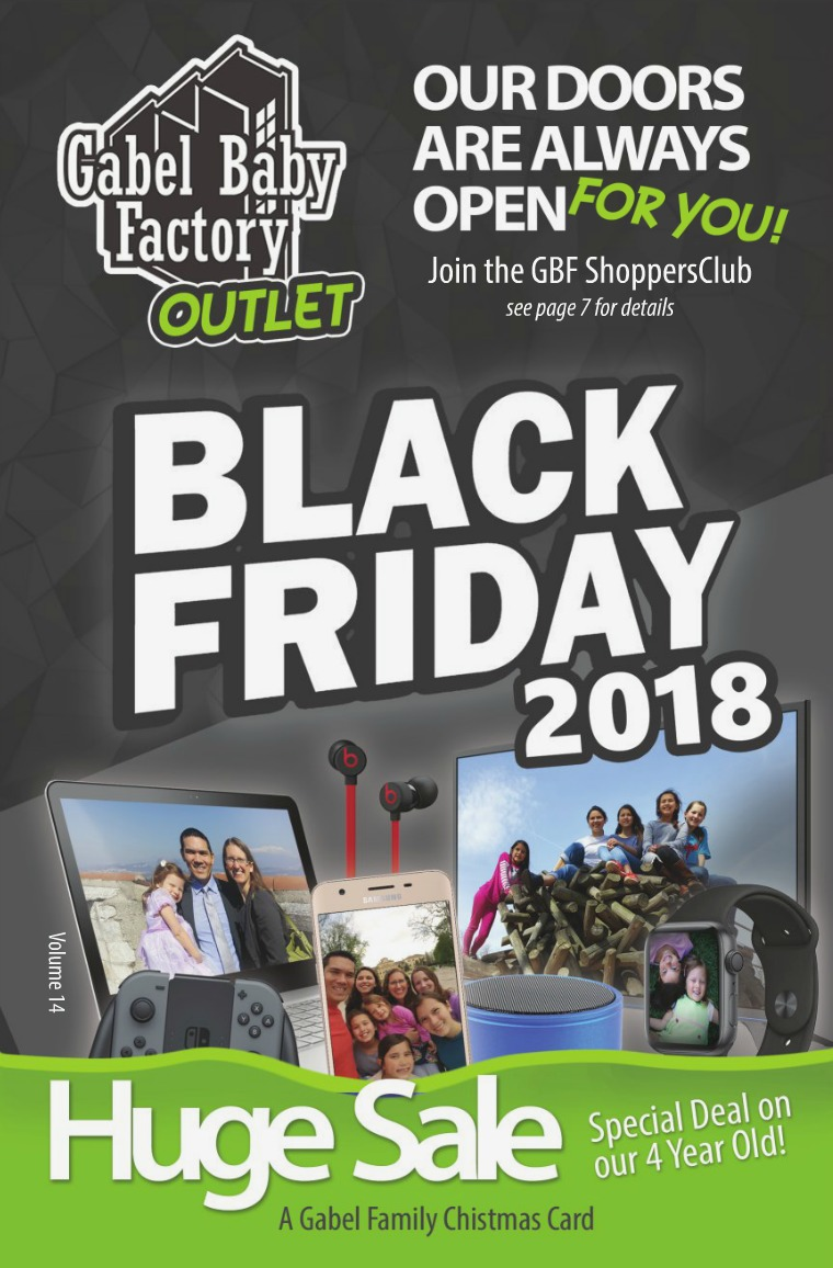 Gabel Family Christmas Card Black Friday- Gabel Baby Factory Outlet (2018)
