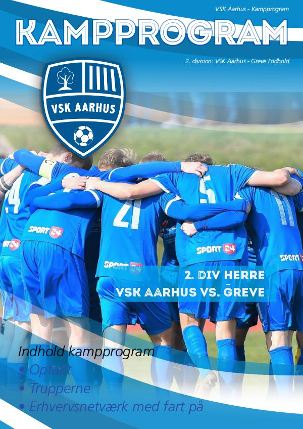 VSK Aarhus Kampprogram VSK Aarhus - Greve Fodbold 2. division