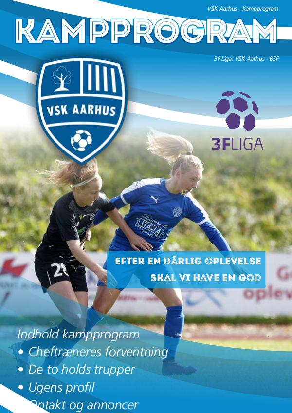 VSK Aarhus Kampprogram VSK Aarhus vs. BSF