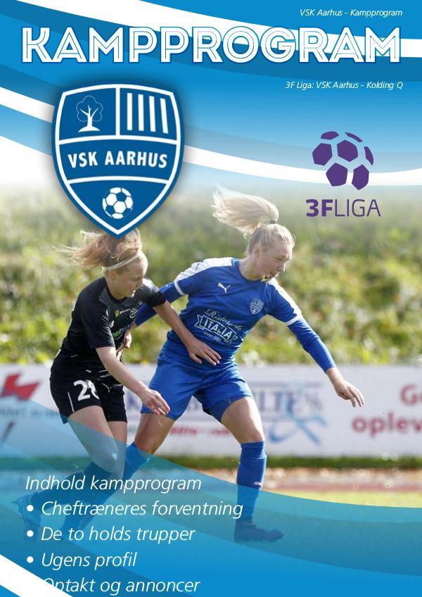 VSK Aarhus Kampprogram VSK Aarhus - Kolding Q