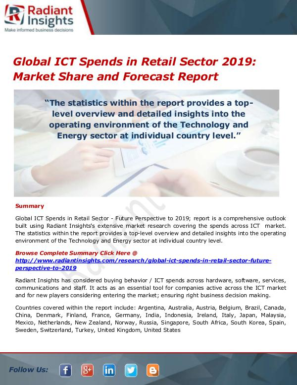 Global ICT Spends in Retail Sector Market