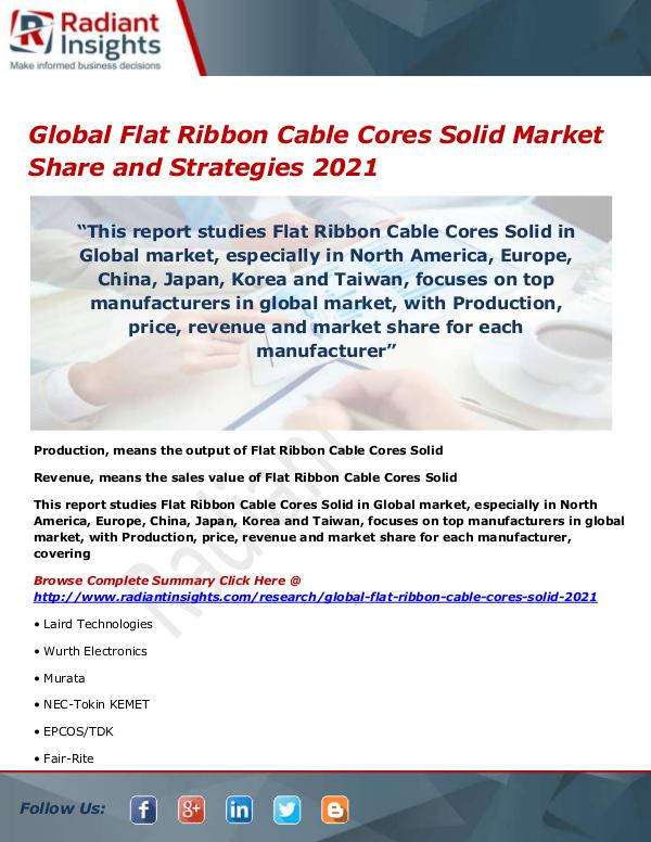 Global Flat Ribbon Cable Cores Solid Market