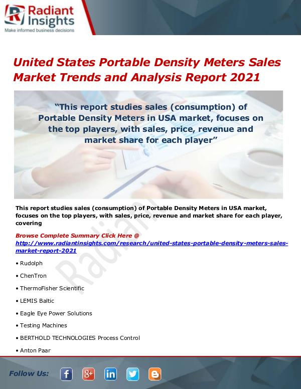 United States Portable Density Meters Sales Market