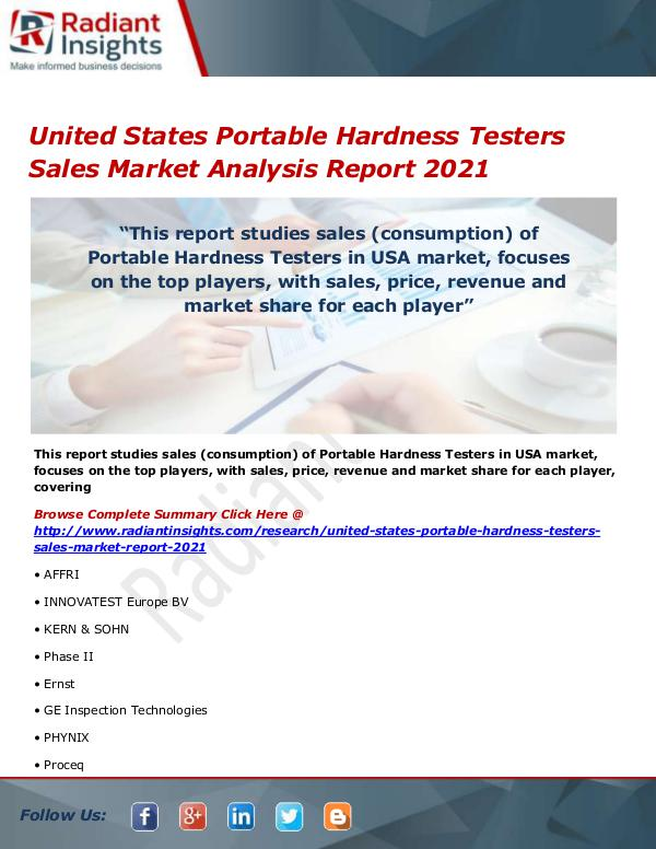 United States Portable Hardness Testers Sales Mark