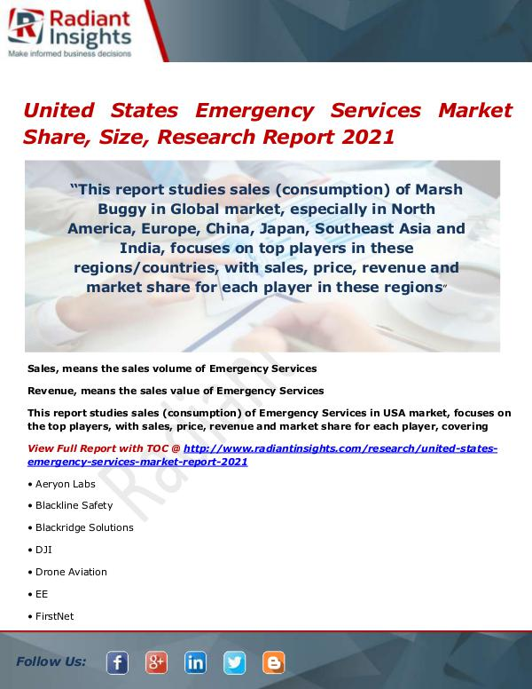Electronics Research Reports by Radiant Insights United States Emergency Services Market