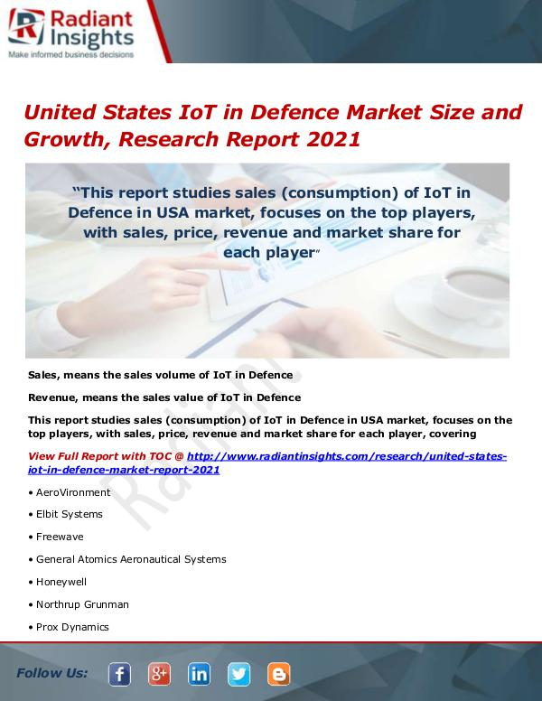 United States IoT in Defence Market