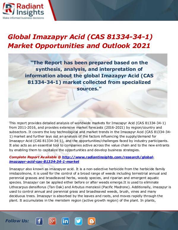 Global Imazapyr Acid (CAS 81334-34-1) Market