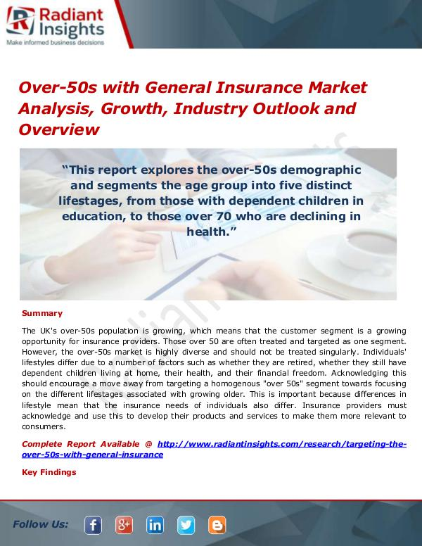 Over-50s with General Insurance Market
