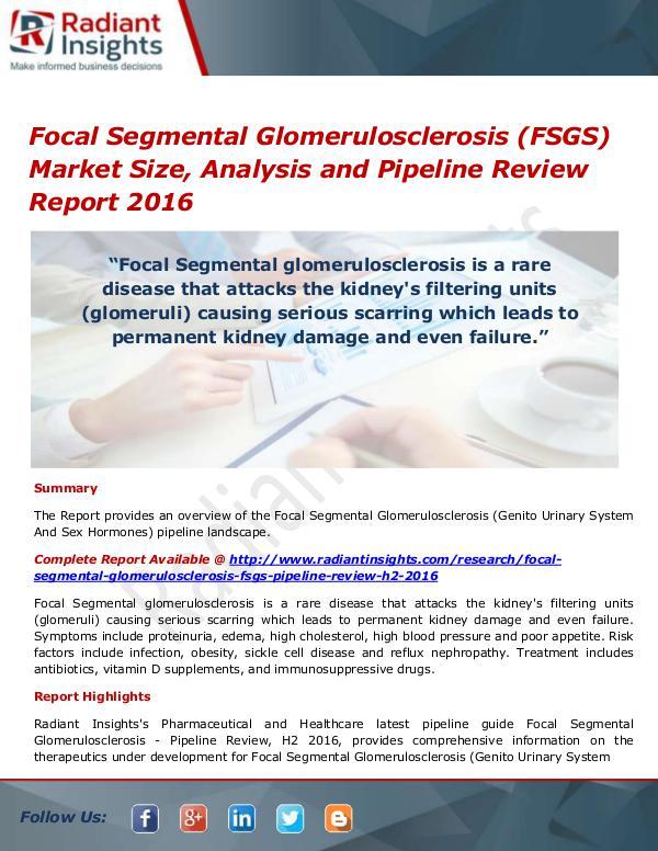 Focal Segmental Glomerulosclerosis (FSGS) Market