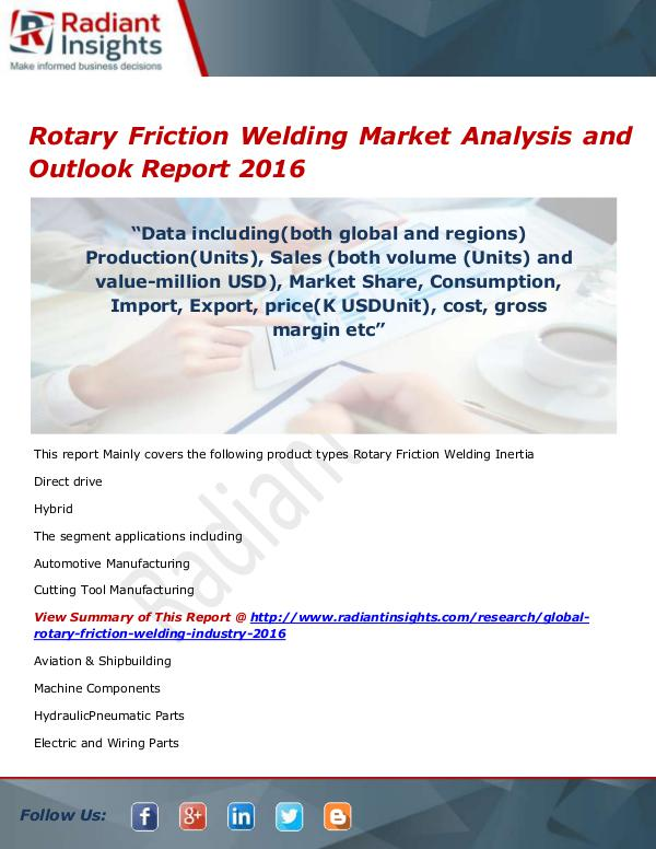 Rotary Friction Welding Market Size, Share, Growth