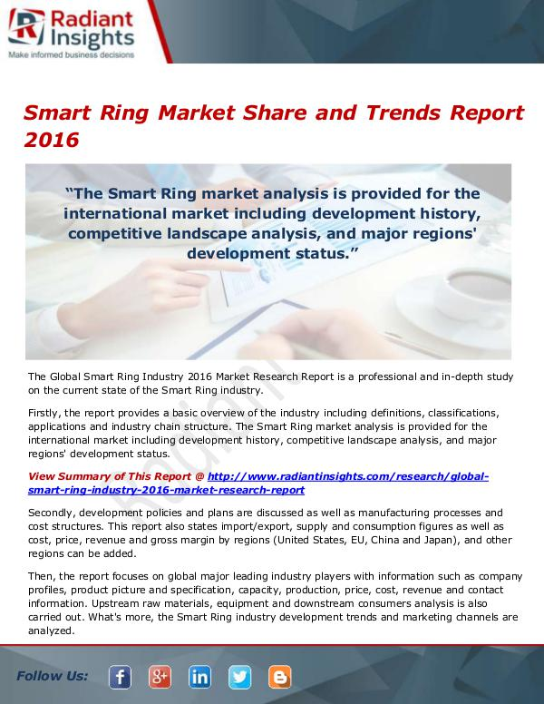 Smart Ring Market Size, Share, Growth, Trends, Ana