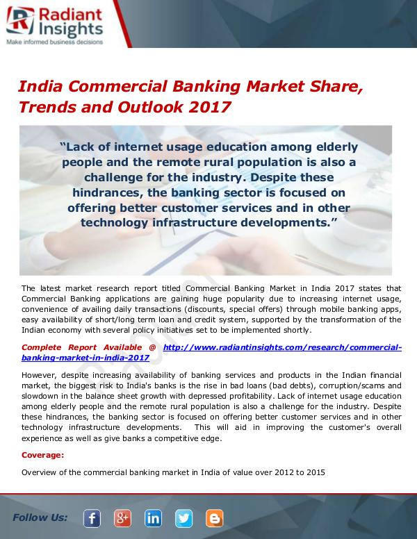 Financial Services Related Reports India Commercial Banking Market Size, Share, Growt