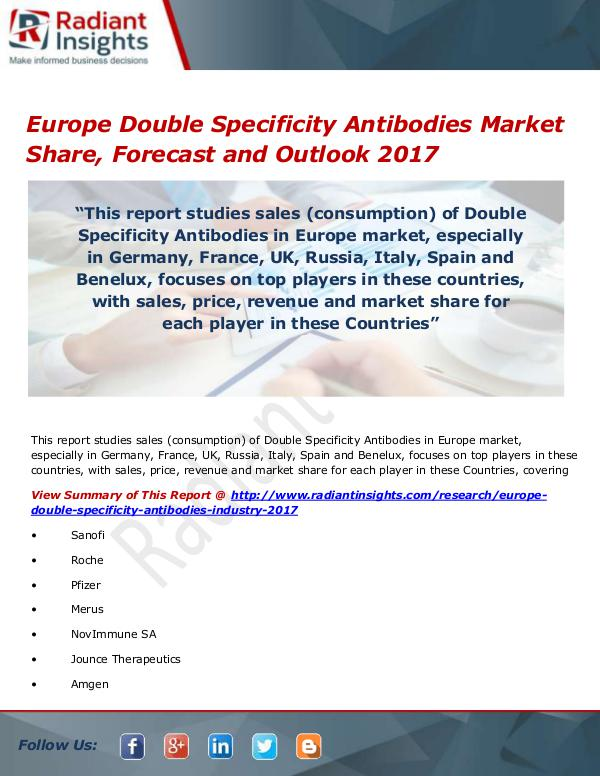 Pharmaceuticals and Healthcare Reports Europe Double Specificity Antibodies Market Size,