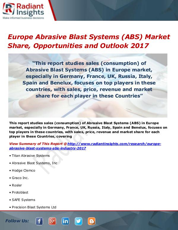 Europe Abrasive Blast Systems (ABS) Market Size, S