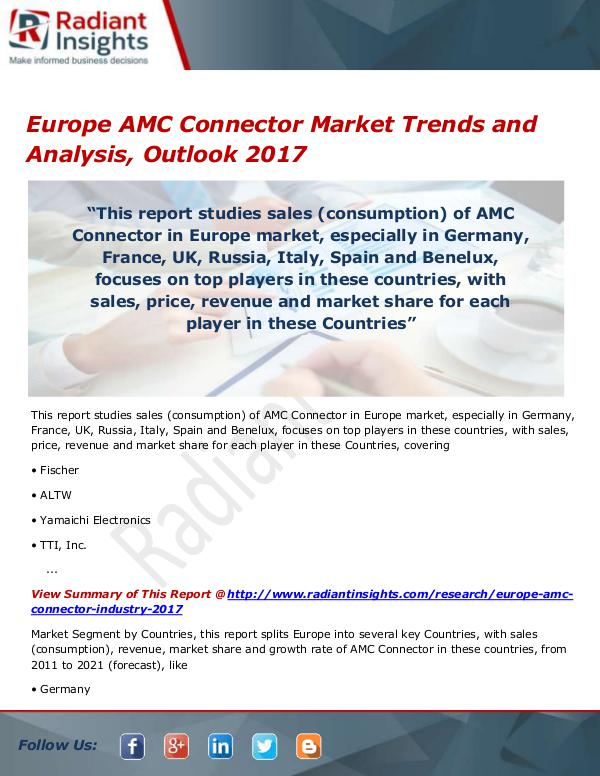 Europe AMC Connector Market Size, Share, Growth, T