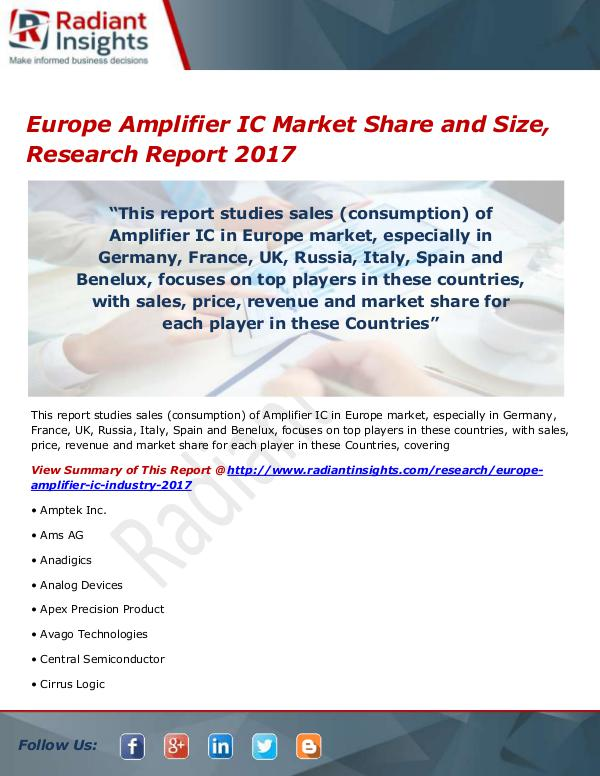 Europe Amplifier IC Market Size, Share, Growth, Tr