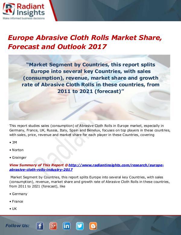 Europe Abrasive Cloth Rolls Market Size, Share, Gr