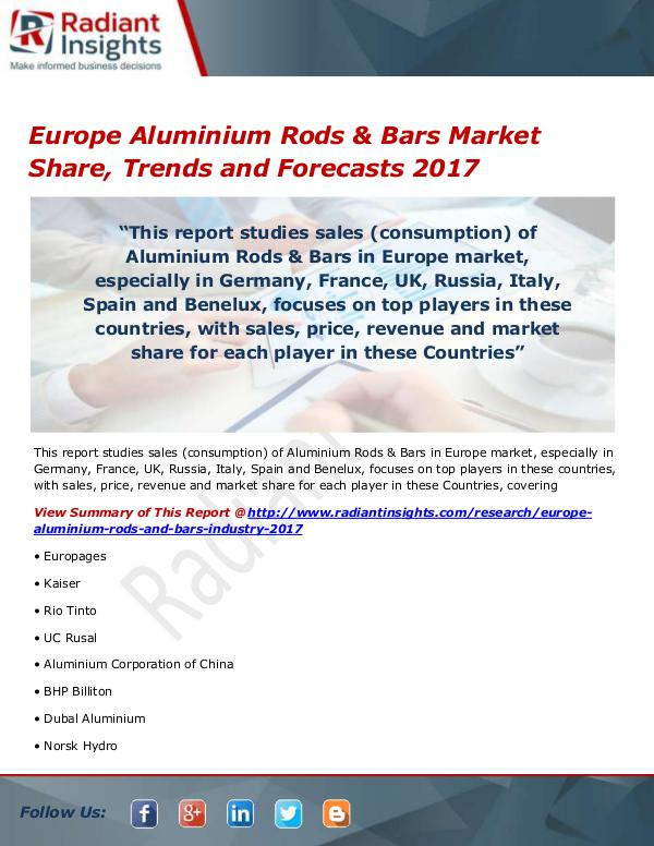 Chemicals and Materials Research Reports Europe Aluminium Rods & Bars Market Size, Share, G