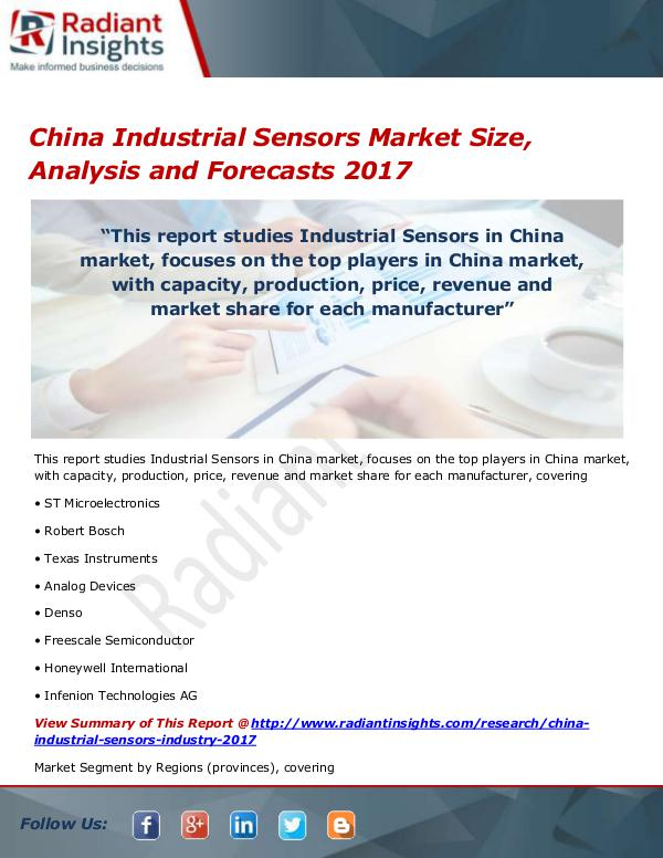 China Industrial Sensors Market Size, Share, Growt