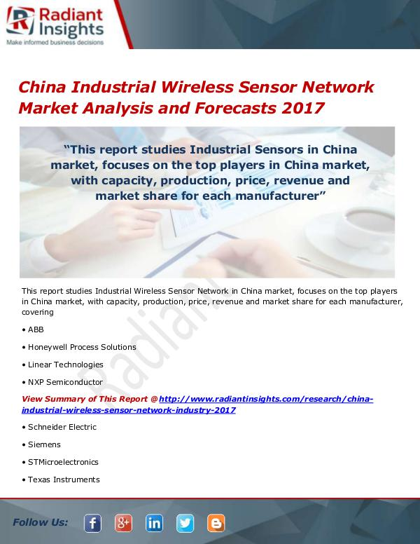 China Industrial Wireless Sensor Network Market Si