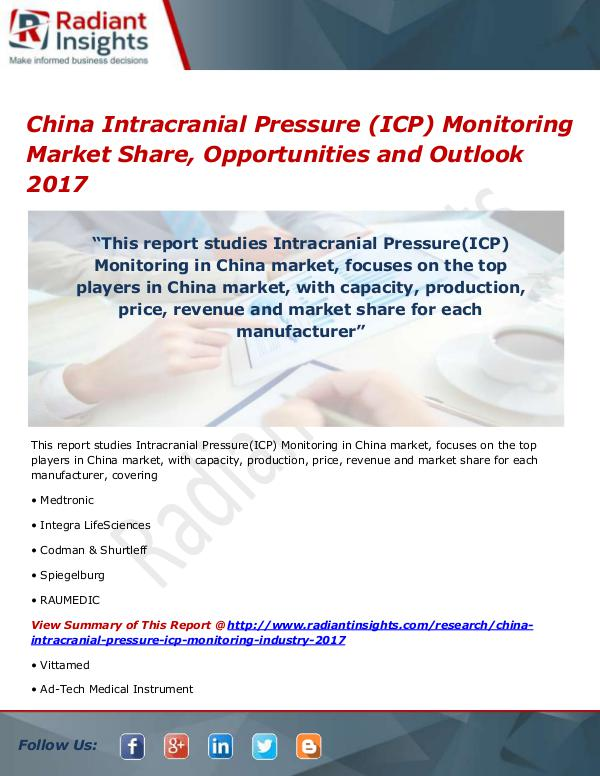 China Intracranial Pressure(ICP) Monitoring Market