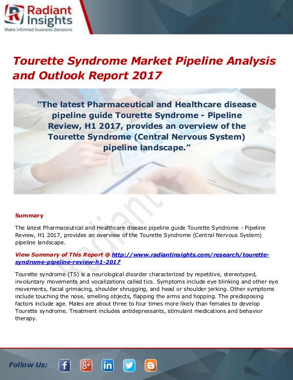 Tourette Syndrome Market Size, Share, Growth, Tren