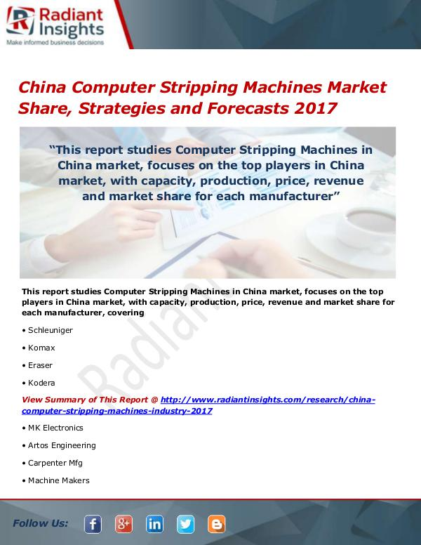 China Computer Stripping Machines Market Size, Sha