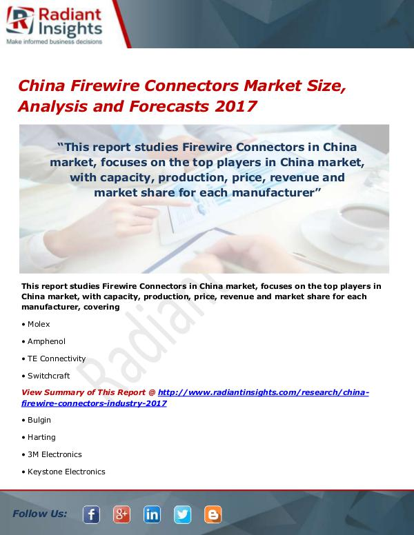 China Firewire Connectors Market Size, Share, Grow