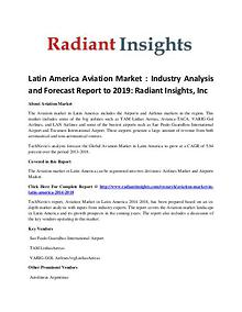Market Research Report on Latin America Aviation Market Forecast 2019 Market Research Report on Latin America Aviation Market Forecast 2019