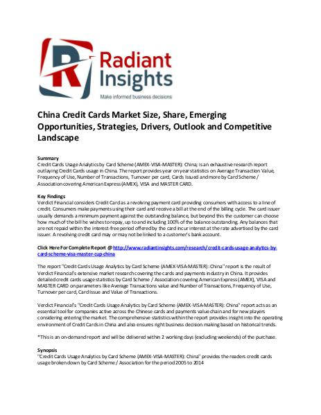 China Credit Cards Market Size, Share, Key Trends China Credit Cards Market Share and Size