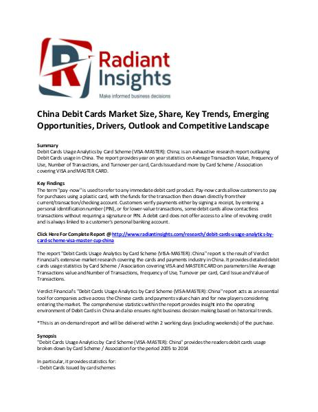 China Debit Cards Market Size, Share, Key Trends, Strategies China Debit Cards Market Share and Size