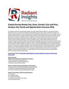 Coated Overlay Market Size, Share, Growth, Forecasts 2016
