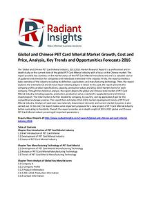 PET Card Mterial Market Share, Growth, Cost and Price, Analysis 2016