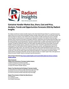 Container Handler Market Size, Cost and Price, 2016