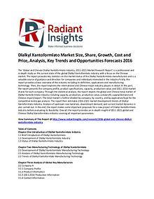 Dlalkyl Xantoformlato Market Size, Cost and Price 2016