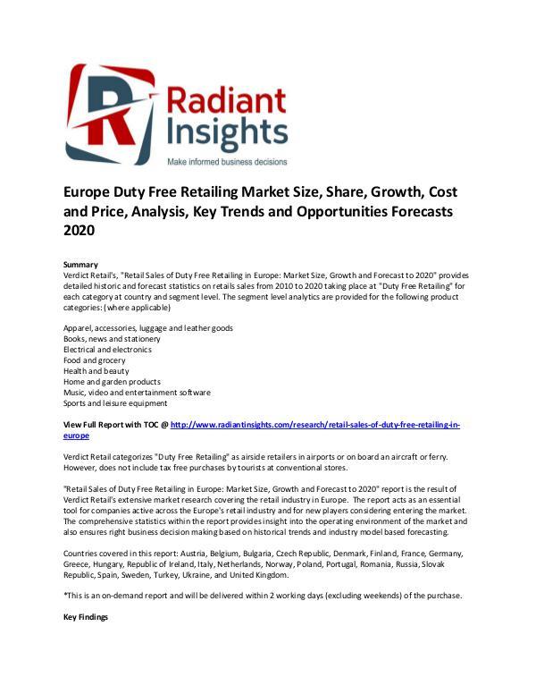 Europe Duty Free Retailing Market