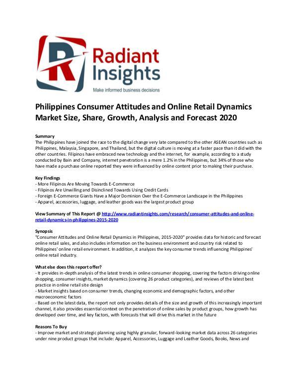 Philippines Consumer Attitudes and Online Retail D