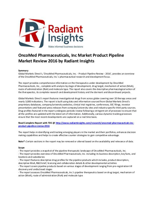 OncoMed Pharmaceuticals Market