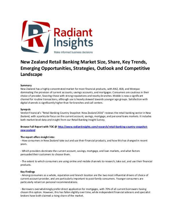 New Zealand Retail Banking Market